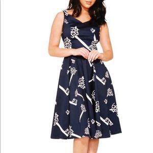 NWT Navy Key A Line Dress